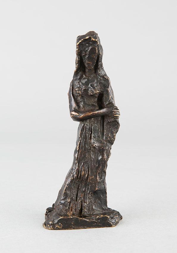 """Apel.les Fenosa (1899-1988), """"Manteau"""", bronze à patine brun nuancé, fonte Busato, n° IV/5, haut. 15 cm, sculptures - galerie Tourbillon, Paris"""