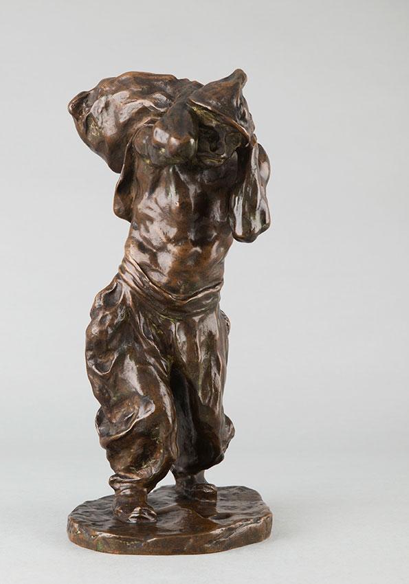 """Bernhard Hoetger (1874-1949), """"Le haleur"""", bronze à patine brun nuancé, haut. 42 cm, sculptures - galerie Tourbillon, Paris"""