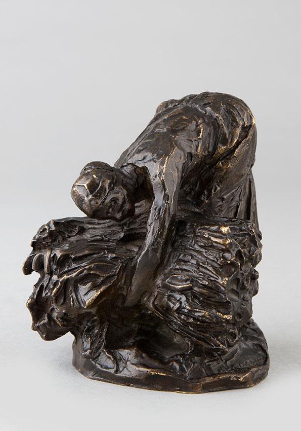 """Jules Dalou (1838-1902), """"La Botteleuse"""", bronze à patine brun nuancé, fonte Susse, haut. 10 cm, sculptures - galerie Tourbillon, Paris"""