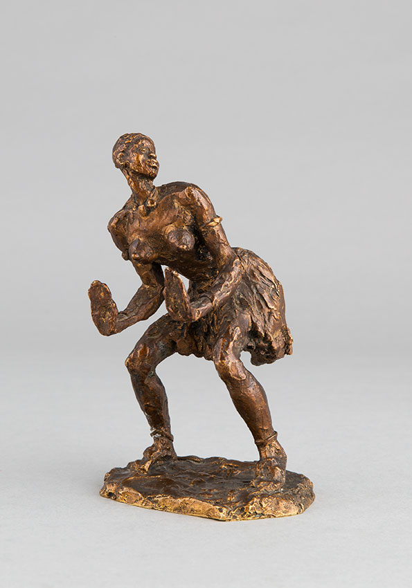 "Gaston Broquet (1880-1947), ""Danseuse Africaine"", bronze à patine marron nuancé, fonte Susse, haut. 15 cm, sculptures - galerie Tourbillon, Paris"