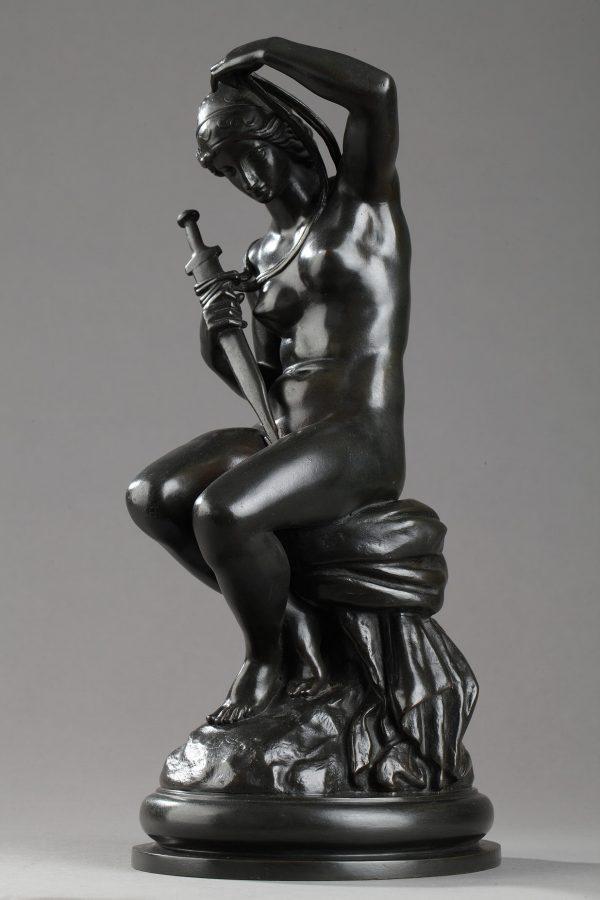 """Antoine-Louis Barye (1796-1875), """"Minerve"""", bronze à patine brune, fonte Barbedienne, haut. 31 cm, sculptures - galerie Tourbillon, Paris"""