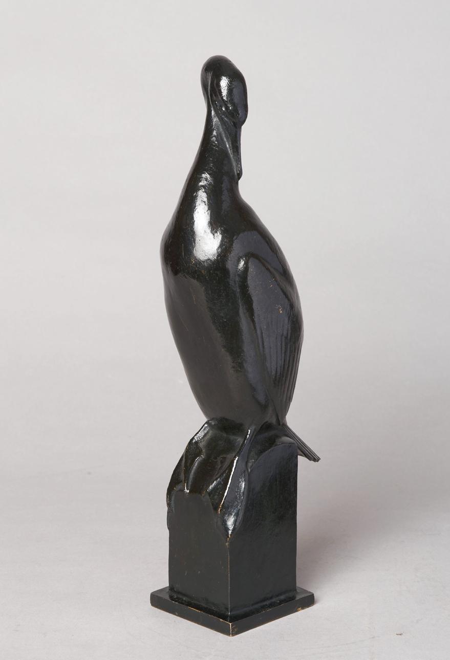"""Auguste Trémont (1892-1980), """"Cormoran"""", bronze à patine brune, fonte Valsuani, haut. 31 cm, sculptures - galerie Tourbillon, Paris"""