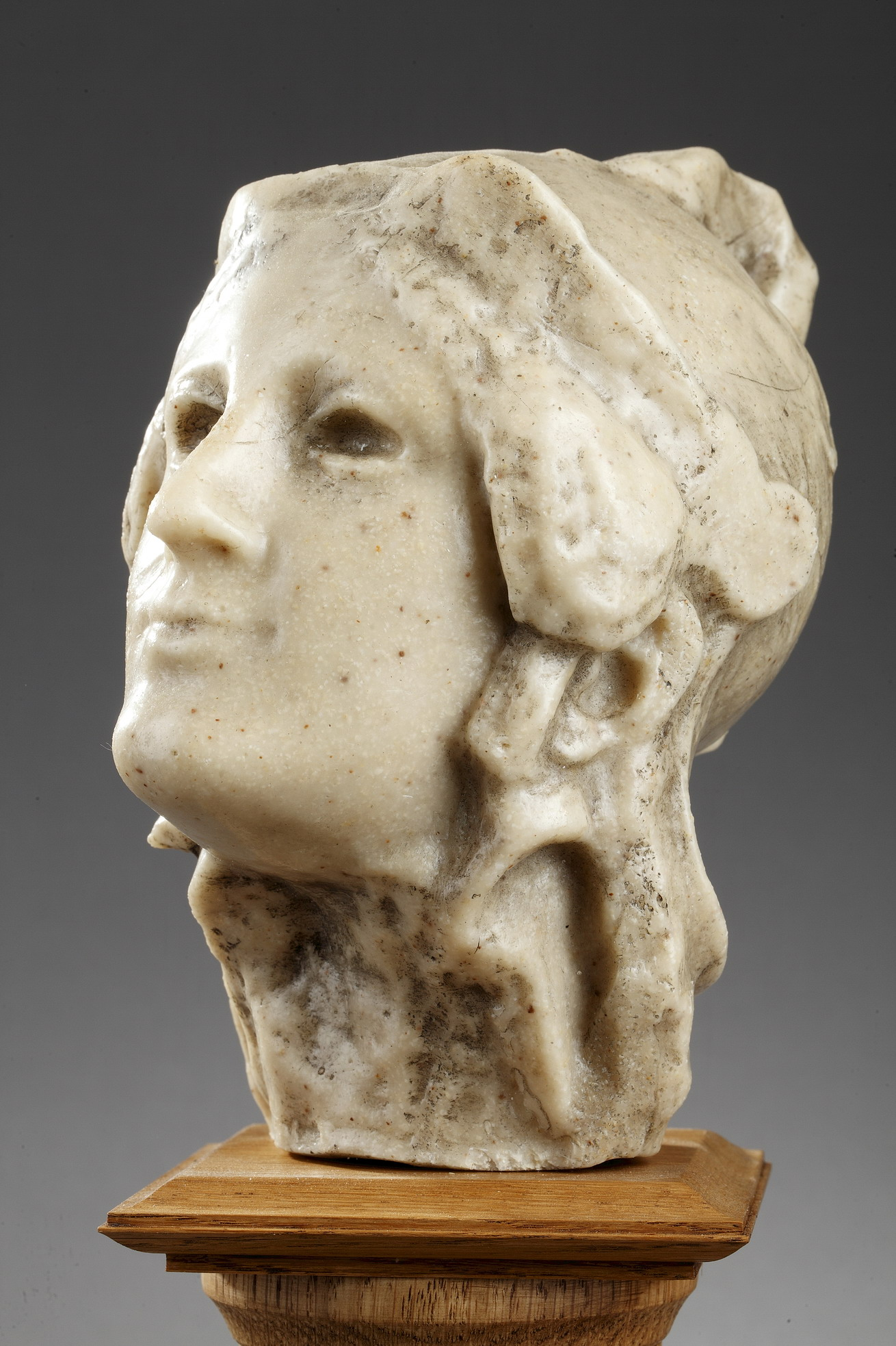 "attr. à Paul-Gaston Déprez (1872-1941), ""Athéna"", sculpture en cire, haut. totale 30 cm, sculptures - galerie Tourbillon, Paris"