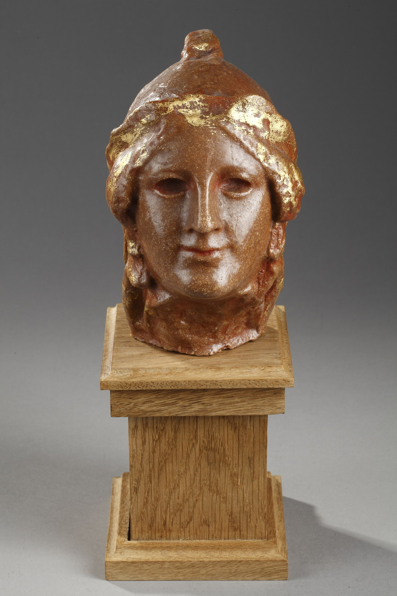 "attr. à Paul-Gaston Déprez (1872-1941), ""Athéna"", sculpture en cire, haut. totale 29 cm, sculptures - galerie Tourbillon, Paris"