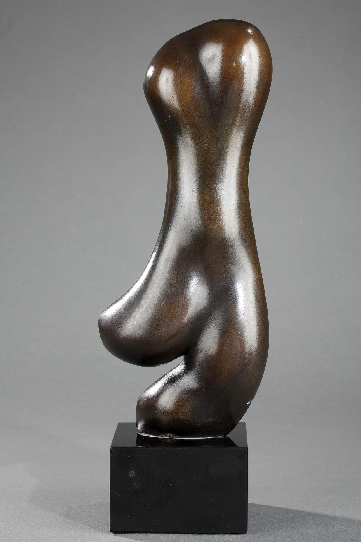 """Baltasar Lobo (1910-1993), """"Elan"""", bronze à patine brun mordoré nuancé, fonte Susse, n°3/8, haut. totale 29,8 cm, sculptures - galerie Tourbillon, Paris"""