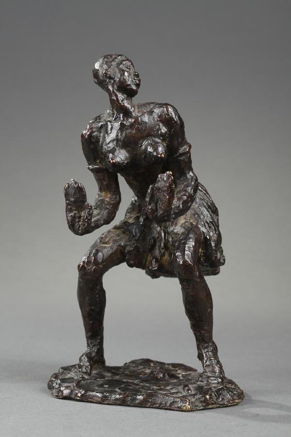 """Gaston Broquet (1880-1947), """"Danseuse Africaine"""", bronze à patine brun foncé nuancé, fonte Susse, haut. 15 cm, sculptures - galerie Tourbillon, Paris"""